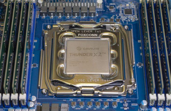 Cavium ThunderX2 Chip In Socket