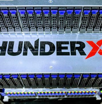Cavium ThunderX2 Logo In Rack