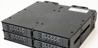 Icy Dock ToughArmor MB699VP B 4 Bay U2 NVMe Hot Swap Enclosure Front