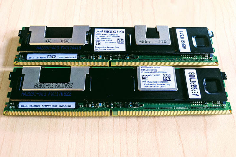 Intel Optane Persistent Memory Modules Front And Back 2