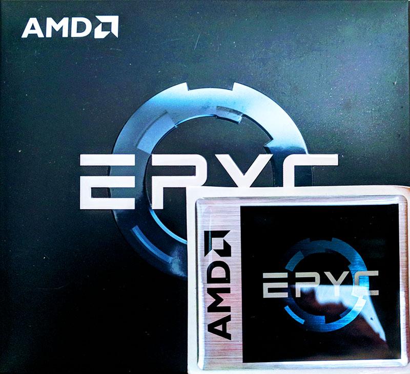 AMD EPYC 7000 Series Retail Box And Badge