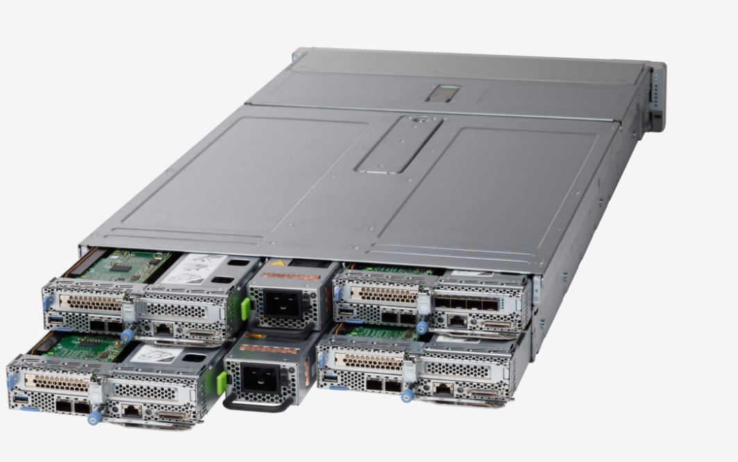 Cisco UCS C4200 And C125 M5 Rear View