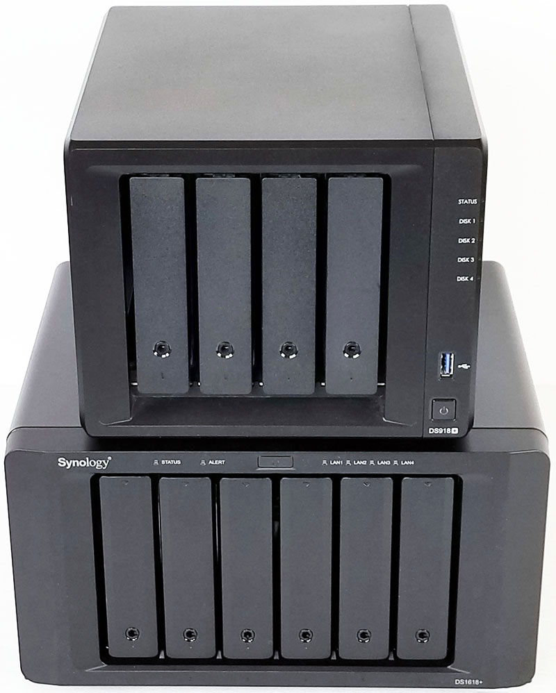 Synology DS1618+ Size Compare