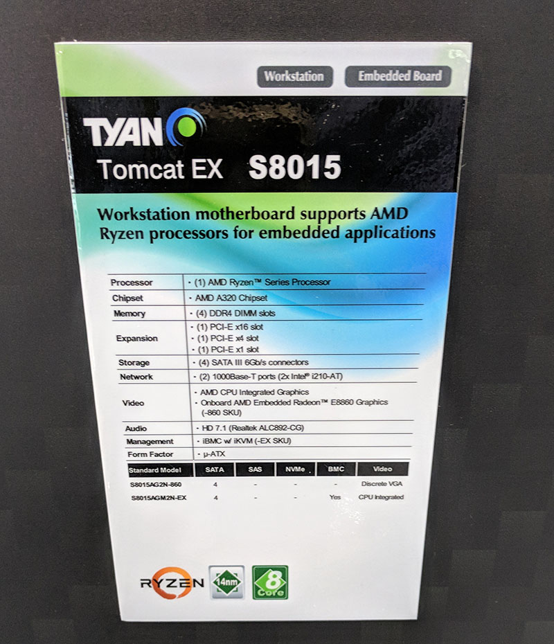Tyan Tomcat EX S8015 Prototype Computex 2018 Specs