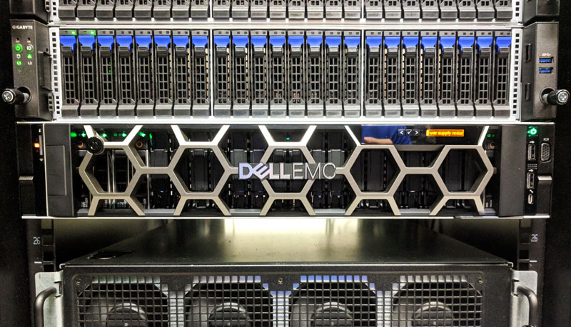 Dell EMC PowerEdge R7415 Front In Rack
