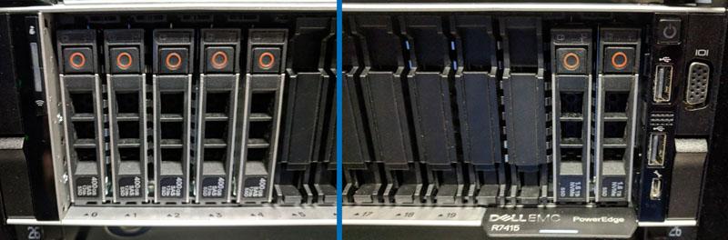 Dell EMC PowerEdge R7415 SAS3 Left NVMe Right 24 Bay Abridged