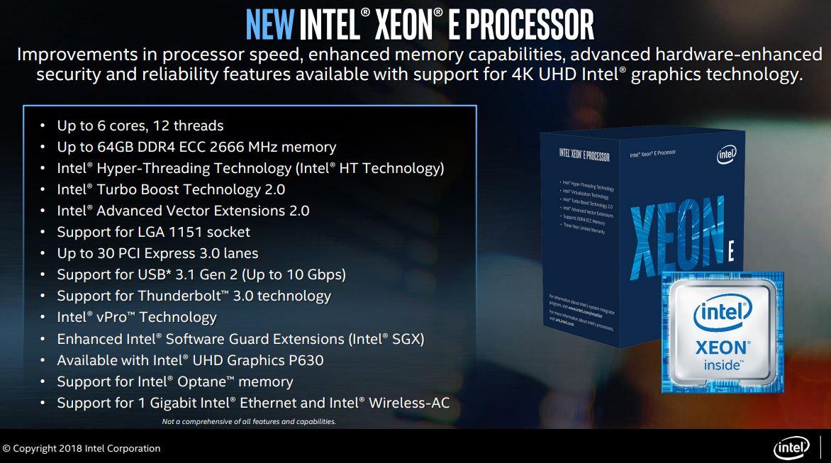 Intel Xeon E-2100 Platform Overview