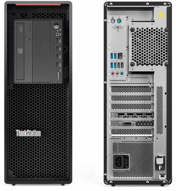 Lenovo ThinkStation P520 Front And Back