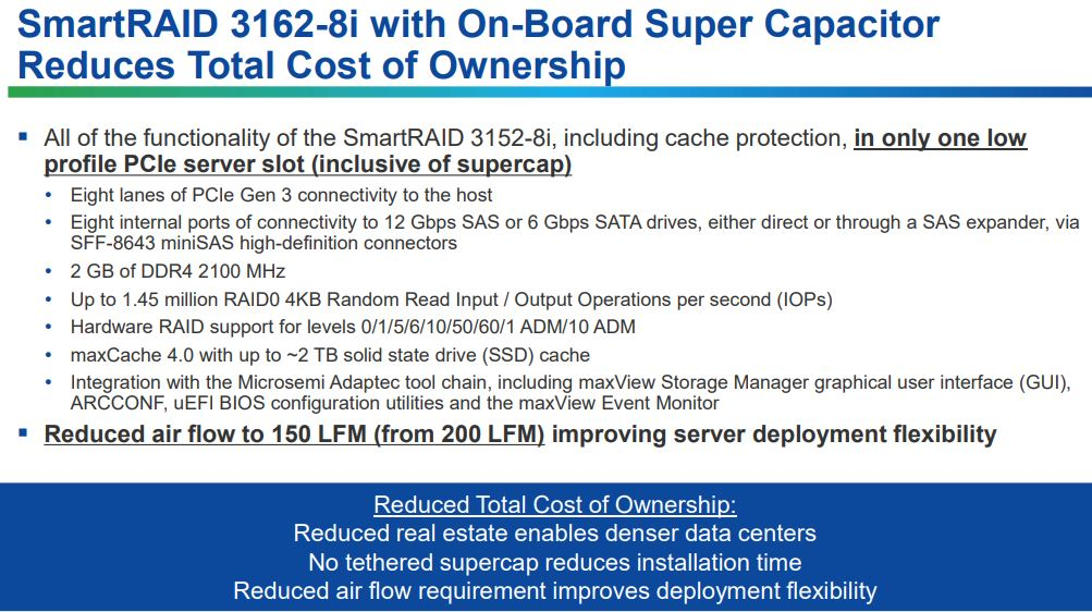 Microsemi Adaptec Zero Maintenance Cache Protection Benefits