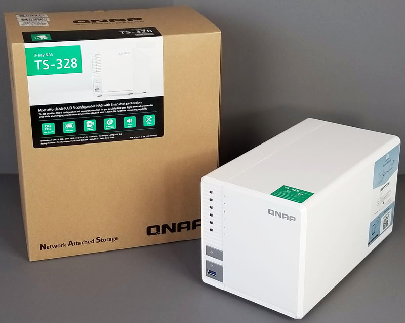 QNAP TS-328 3-Bay Low-Cost RAID 5 Capable NAS
