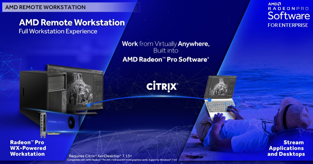 AMD Radeon Pro Q3 2018 AMD Remote Workstation