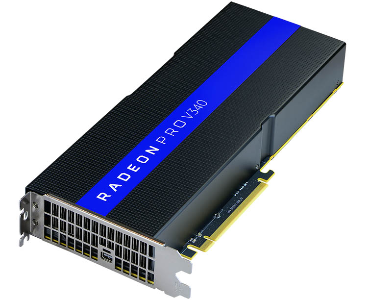 AMD Radeon Pro V340 Top Three Quarter