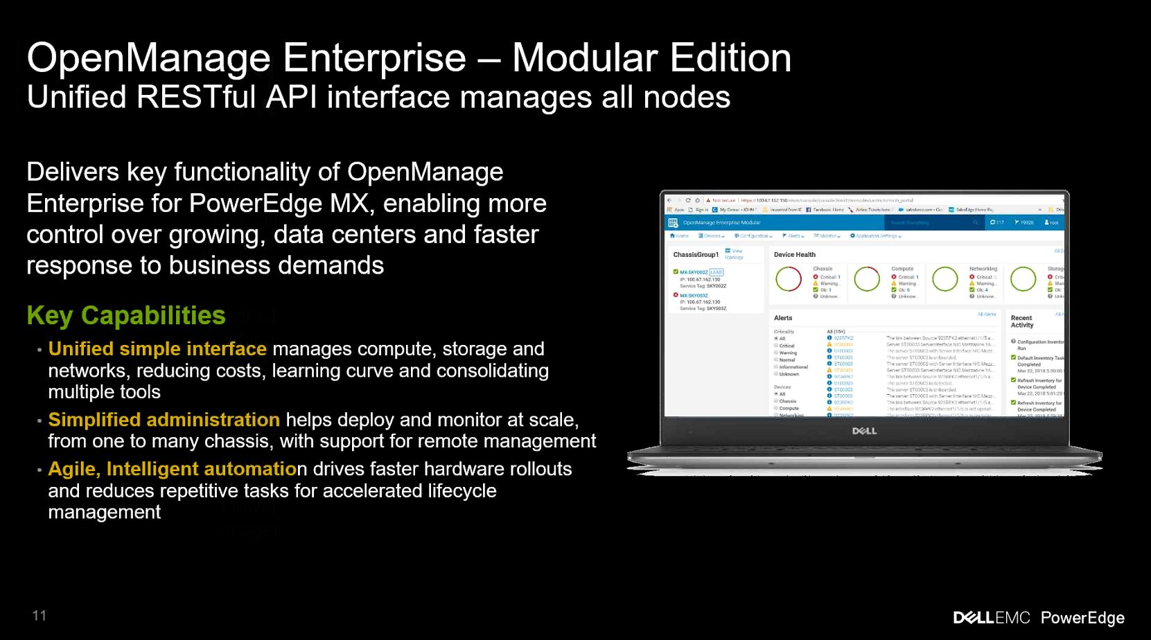 Dell EMC PowerEdge MX Open Manage Enterprise Modular Edition