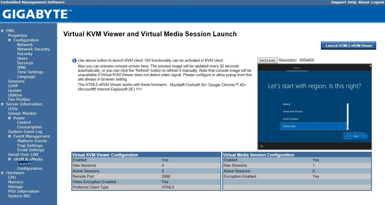 Gigabyte HTML5 IKVM Launch