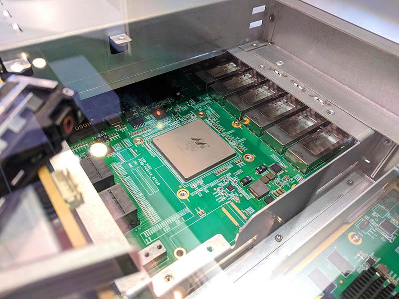 Marvell NVMeoF JBOF Demo At Toshiba FMS Booth
