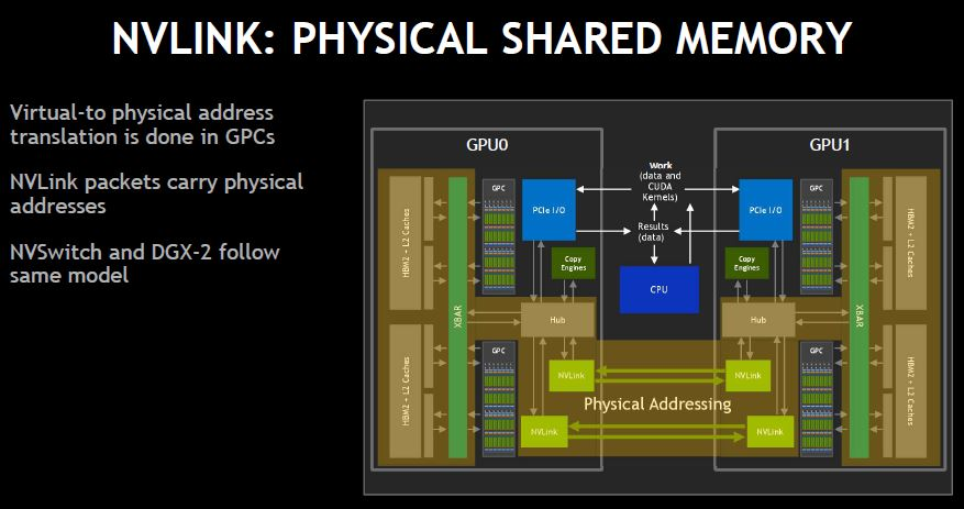 NVIDIA NVSwitch Physical Shared Memory