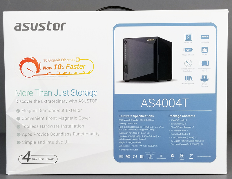 Asustor AS4004T Retail Box Front