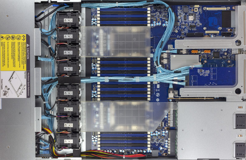 Gigabyte R181 NA0 Top View Internal