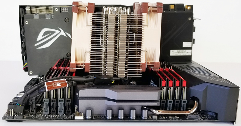 Noctua NH U9 TR4 SP3 Installed Side View