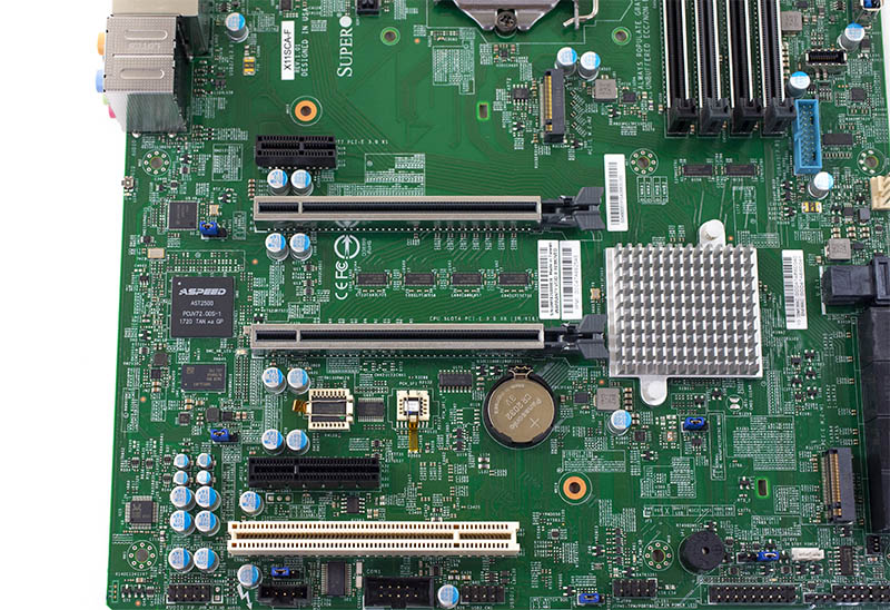 Supermicro X11SCA F PCIe M2 And BMC Unpopulated