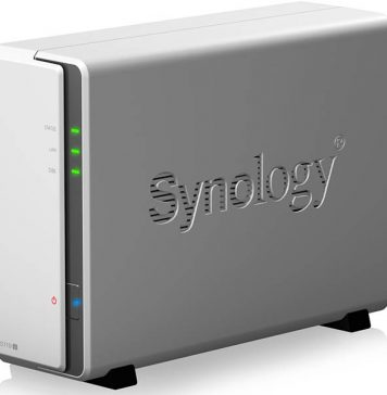 Synology DS119j Front Three Quarter