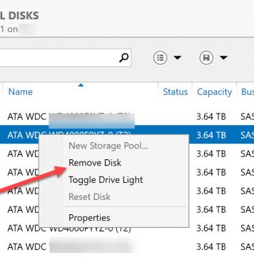 Windows Storage Server 2016 Storage Spaces Remove Failed Drive 1