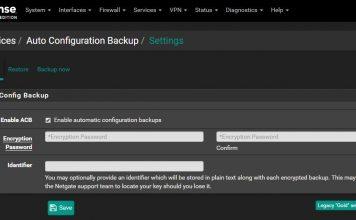 PfSense 2.4.4 AutoConfigBackup