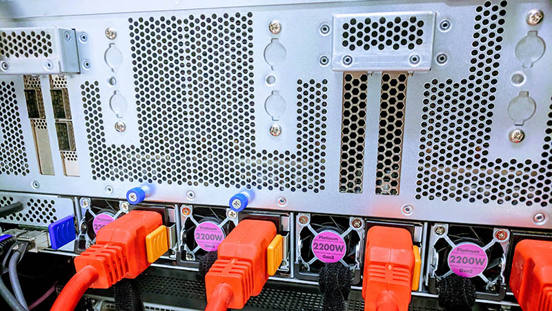 DeepLearning12 4x 2.2kW PSUs Cabled For Initial Power On Test
