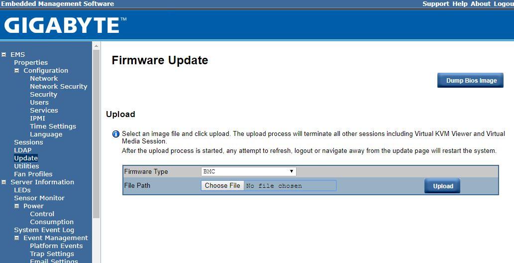 Gigabyte BMC IPMI Firmware Update