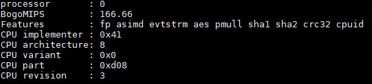 AWS A1.4xlarge Cpuinfo