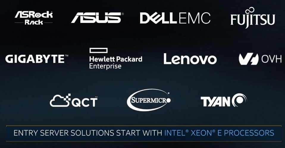 Intel Xeon E 2100 Server Launch Vendors