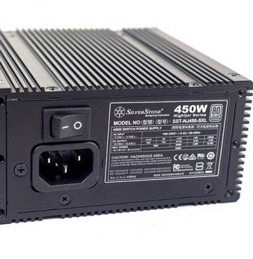 SilverStone Nightjar NJ450 SXL Power Input And Switch
