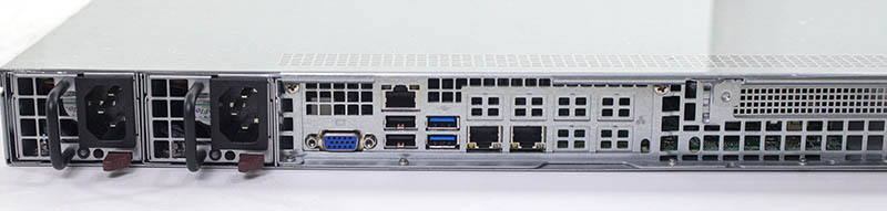 Supermicro SYS 5019C MR Rear IO And Power Supplies
