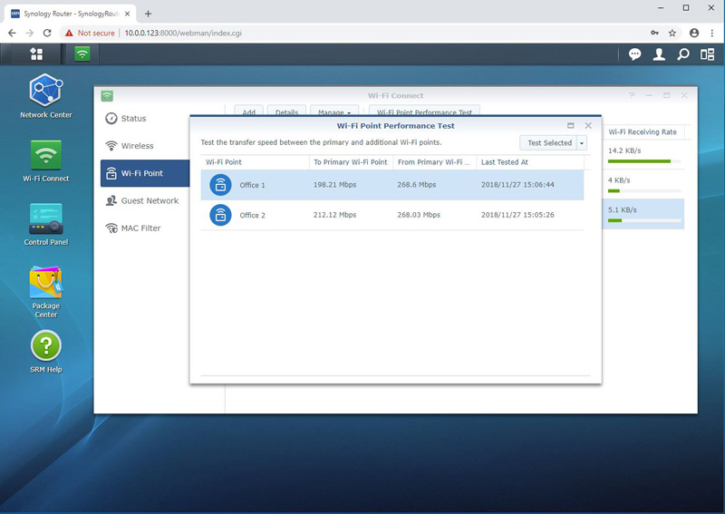 Synology MR2200ac Performance Test