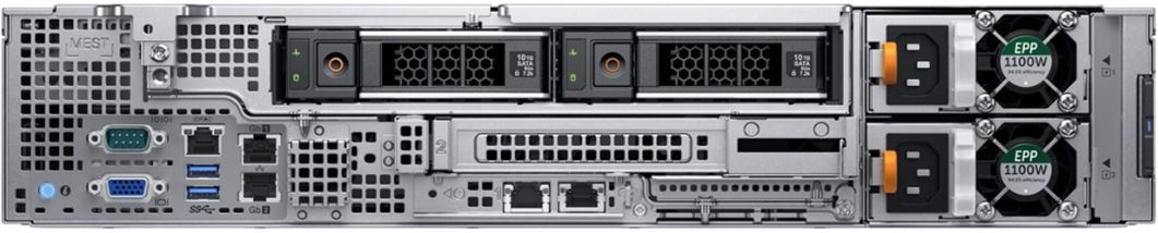 Dell PowerEdge R740xd2 Rear