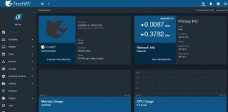FreeNAS 11.2 Release Dashboard