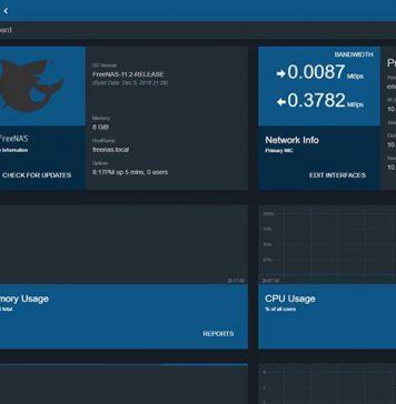 FreeNAS 11.2 Release Dashboard