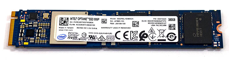 Intel Optane 905P 380GB M.2 NVMe Top