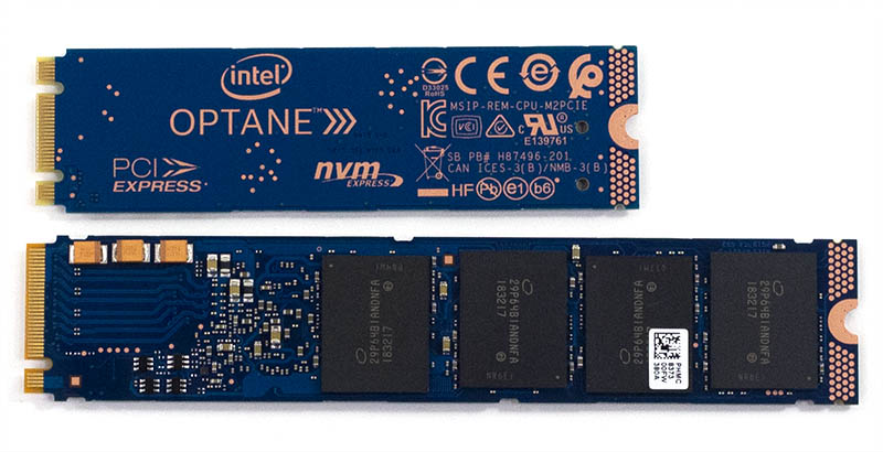 Intel Optane 905P 380GB M.2 V 118GB Optane 800P Bottom