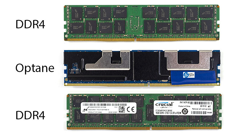 Intel Optane V DDR4 DIMM Front And Back 2