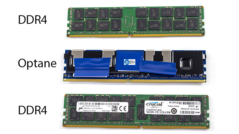 Intel Optane V DDR4 DIMM Front And Back