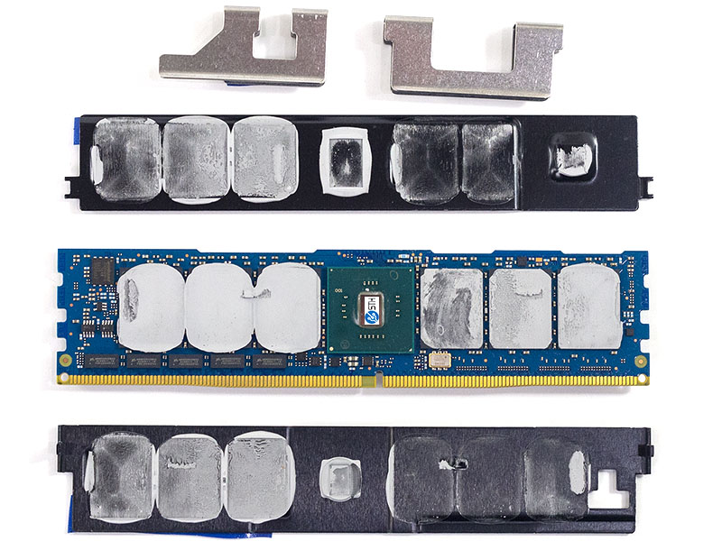 Intel Optane V DDR4 DIMM Underneath Controller Side