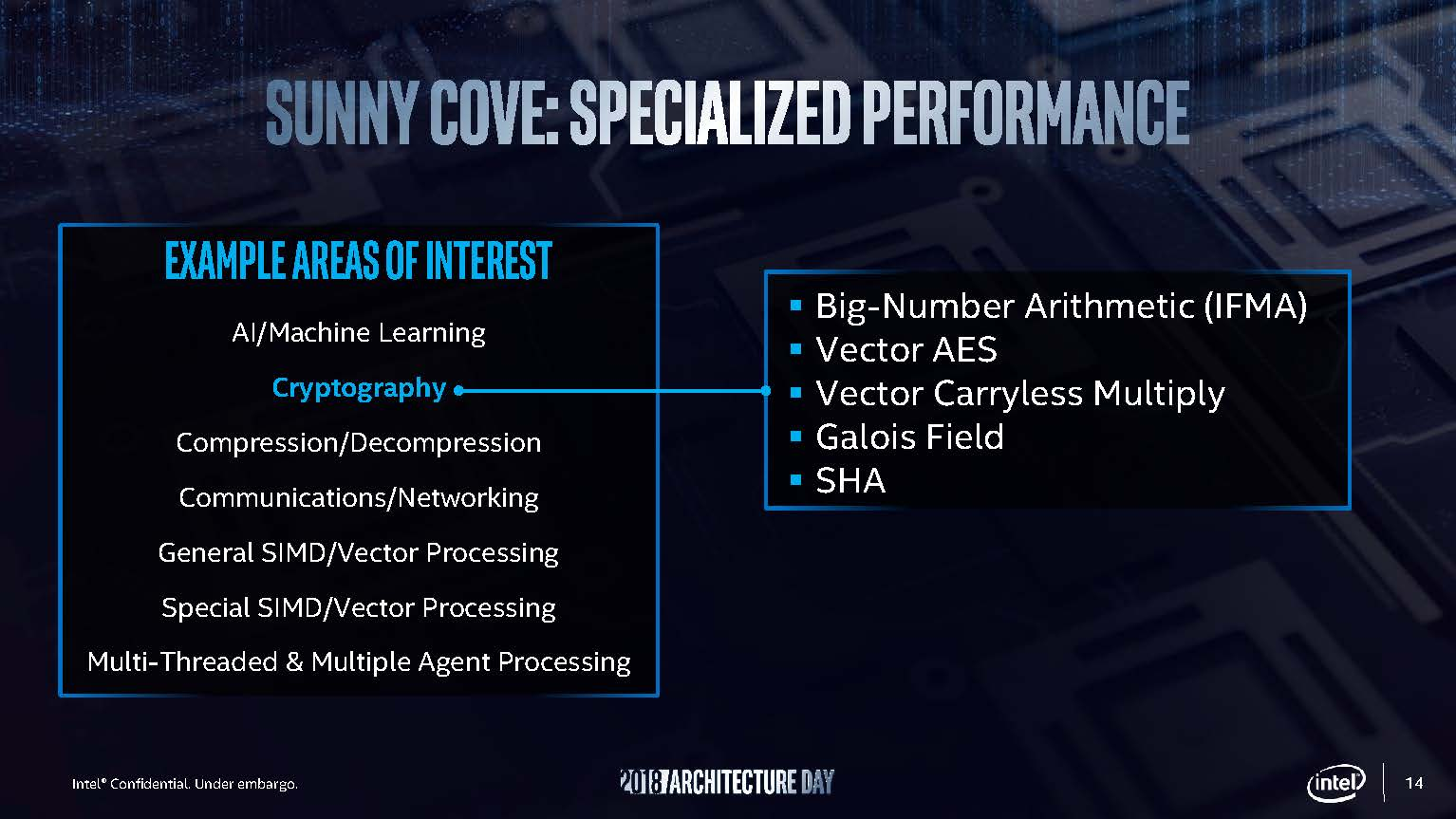 Intel Sunny Cove Specialized Performance 1