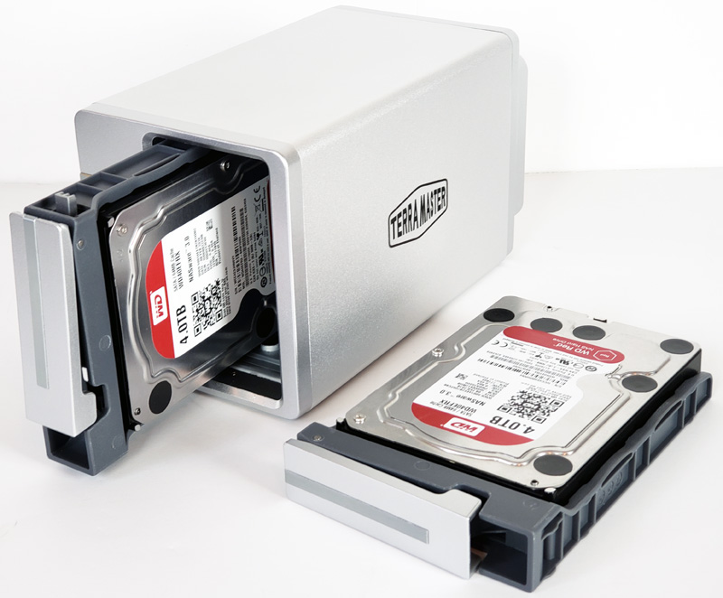 TerraMaster F2 221 Installing Hard Drives