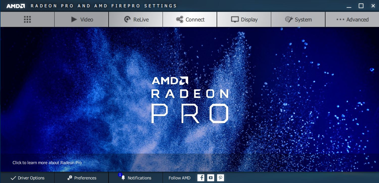 AMD Radeon Vega Frontier Edition Settings Pro Mode
