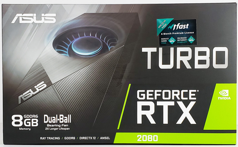 ASUS Turbo RTX2080 8G Retail Box Front