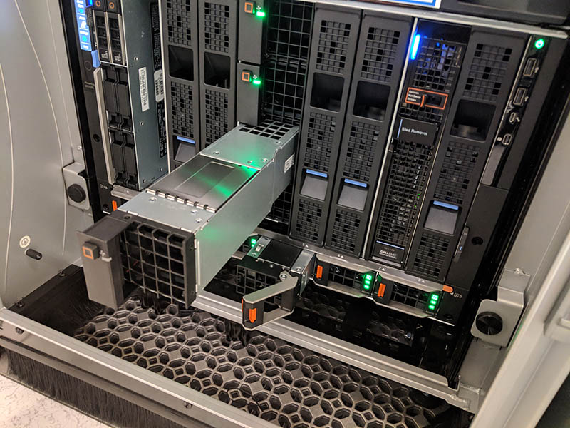 Dell EMC PowerEdge MX7000 PSU Blade And Front Fan Removed