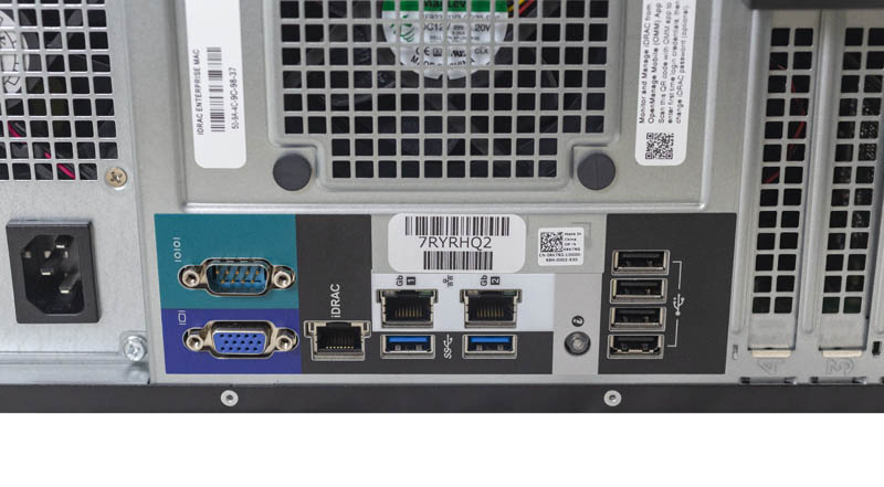 Dell EMC PowerEdge T140 Rear IO