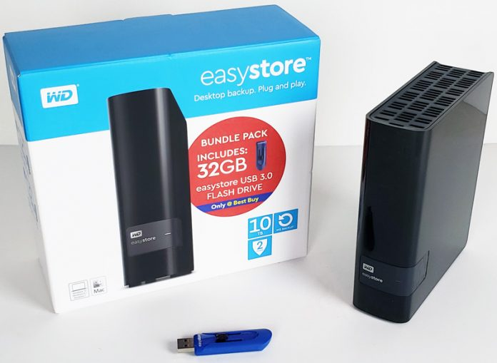 Easystore WD 10TB USB Desktop Backup