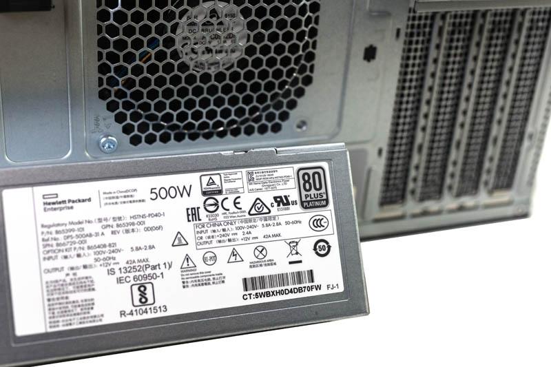 HPE ProLiant ML30 Gen10 500w RPSU